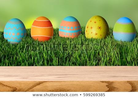 beautiful easter egg decoration colorfull eggs seasonal pastel  Stock photo © juniart