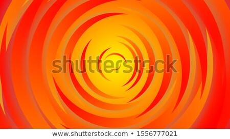 3D concentrico cerchio pattern sfondo arancione Foto d'archivio © Melvin07