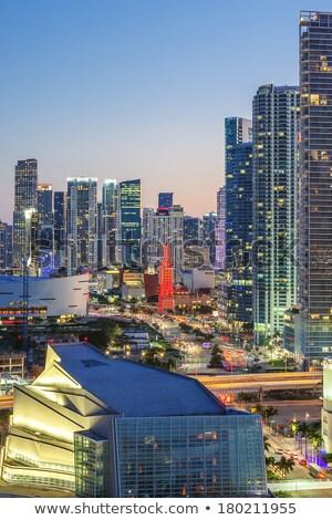 Майами мнение Флорида закат бизнеса жилой Сток-фото © vwalakte