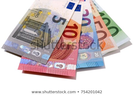 Stock photo: Various euro bills