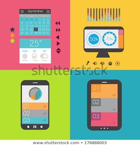 Projeto interface modelo dispositivos negócio Foto stock © DavidArts