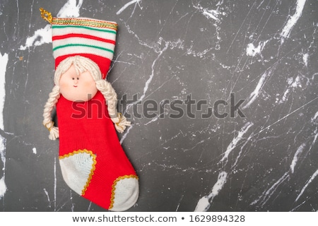 Mrs. Santa dreaming about Christmas presents Stock photo © Nejron