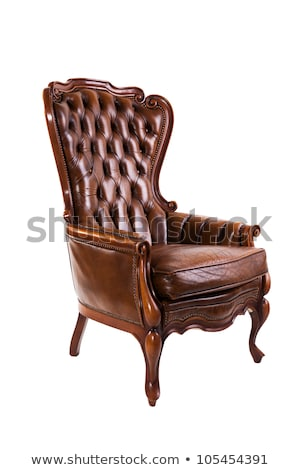vintage classic brown grunge leather chair sofa Stock photo © FrameAngel
