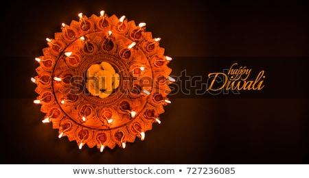 happy diwali background with deepak Stock photo © rioillustrator