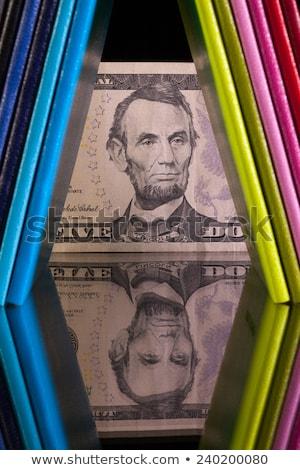 Twaalf verschillend kleuren dollar bankbiljet glas Stockfoto © CaptureLight