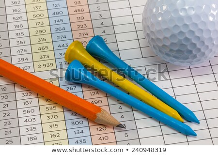 Golf  equipments  lying  on a golf score card Stock photo © CaptureLight