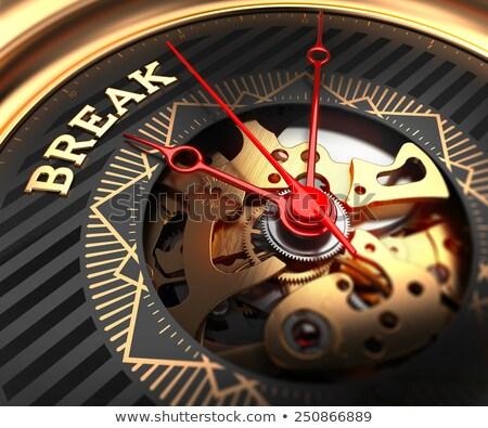 Break on Black-Golden Watch Face.  Stock photo © tashatuvango