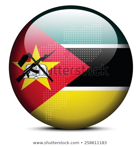 Map with Dot Pattern on flag button of Republic Mozambique Stock photo © Istanbul2009