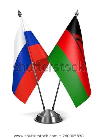 Rusia Malawi miniatura banderas aislado blanco Foto stock © tashatuvango