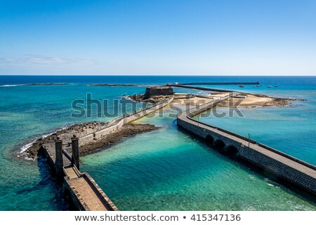 sea view at Castle of San Gabriel, Lanzarote, Canary Islands  Stock photo © meinzahn
