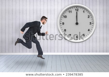 Geeky young businessman running mid air Stock photo © wavebreak_media
