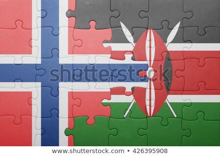 Avrupa sendika Kenya bayraklar bilmece vektör Stok fotoğraf © Istanbul2009