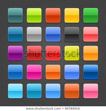 web internet social square vector violet icon design set stock photo © rizwanali3d