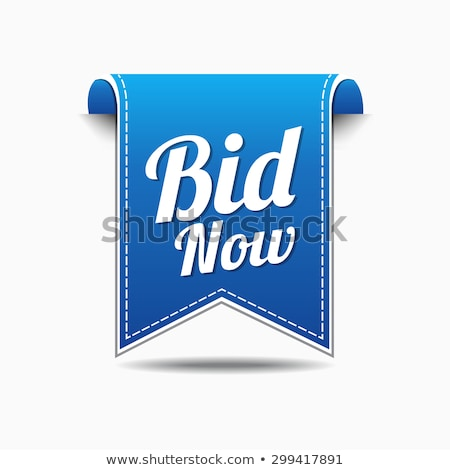 Bid Now Blue Vector Icon Design Stock photo © rizwanali3d