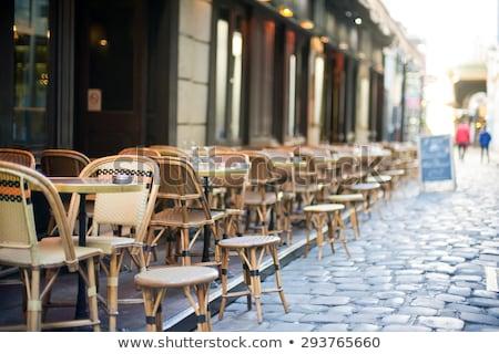 blurred cafe on street of european city stock photo © artjazz