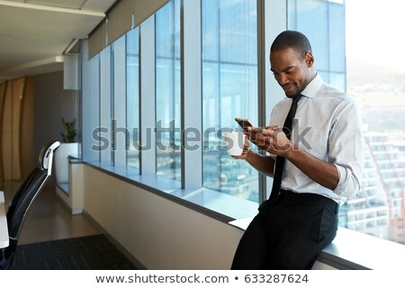 Businessman Checking Messages on Cellphone Stock photo © iofoto