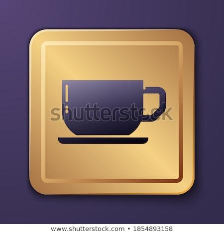 Coffee Sign Purple Vector Icon Button Stock photo © rizwanali3d