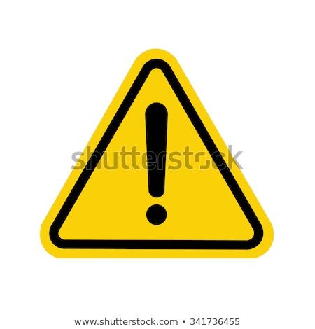 знак опасности желтый вектора икона кнопки дизайна Сток-фото © rizwanali3d