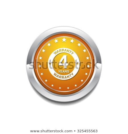 4 Years Warranty Yellow Vector Icon Button Stock photo © rizwanali3d