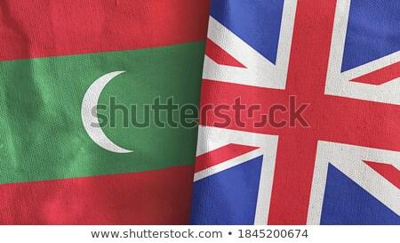 Büyük Britanya Maldivler bayraklar bilmece yalıtılmış beyaz Stok fotoğraf © Istanbul2009
