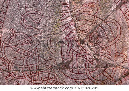 Ancient Nordic Runestone  Stock photo © mikdam
