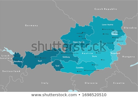 map of vorarlberg stock photo © rbiedermann