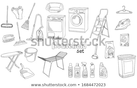 Doodle pattern set of cleanup Stock photo © netkov1