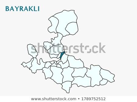 карта Измир из административный район дороги Сток-фото © Istanbul2009