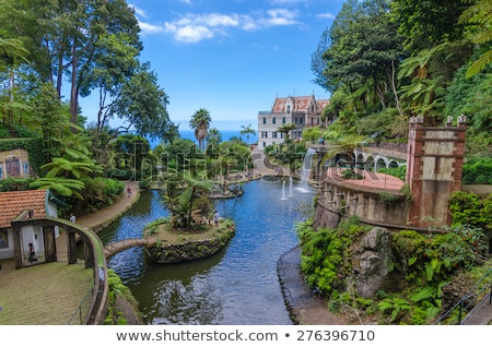 Palota kert Madeira Portugália ház természet Stock fotó © compuinfoto
