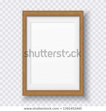 Fából készült téglalap keret használt minta panel Stock fotó © Voysla