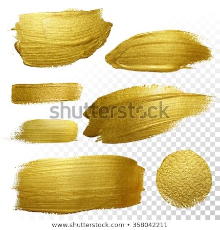 Oro pintura establecer blanco fondo arte Foto stock © -Baks-