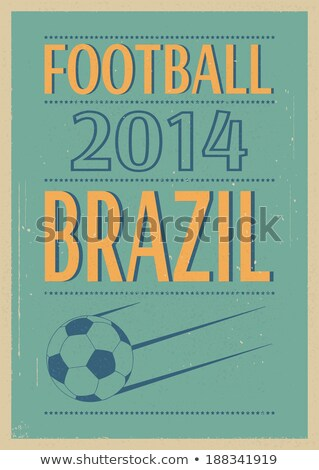 Stockfoto: Grunge · voetbal · poster · voetbal · eps · vector