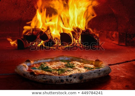 Olasz fa tűz pizza stock kép Stock fotó © doddis