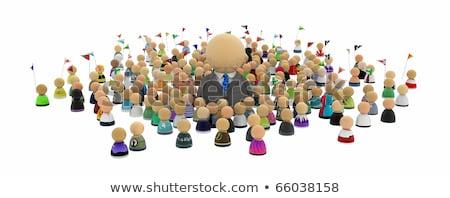 Patrão simbólico pessoas ilustração 3d em pé Foto stock © grechka333