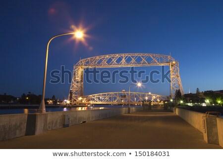 ночь фотографии Миннесота воды моста судно Сток-фото © pictureguy