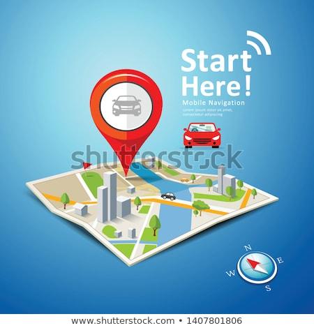 Map Gps And Compass Stok fotoğraf © Sarunyu_foto