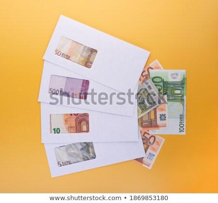 Kapalı beyaz zarf euro şeffaf para Stok fotoğraf © stokato