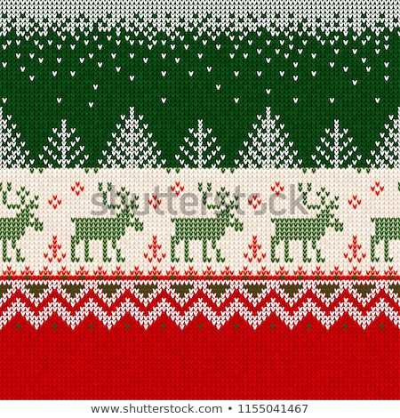 knitted seamless winter holidays wallpaper vector illustration stock photo © carodi