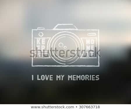 Shutter Icon or logo design template with key words. Camera and Lens badge. Keep the moment theme. I Stock photo © JeksonGraphics