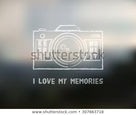 redőny · ikon · logoterv · sablon · kameralencse · kitűző - stock fotó © jeksongraphics