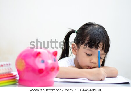 Portret schoolmeisje tekening boek klas school Stockfoto © wavebreak_media