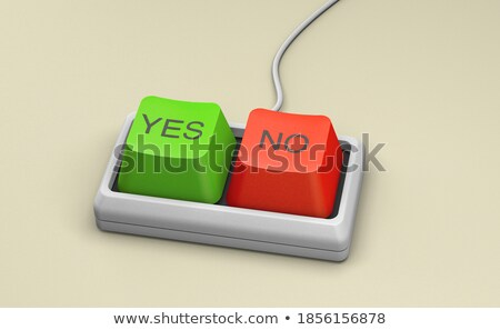 Yes - Green Keypad. 3D Render. Stock photo © tashatuvango