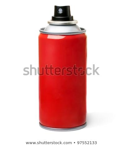 Kırmızı sprey grup plastik böcek nesne Stok fotoğraf © dezign56