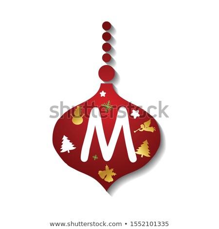 coffret · cadeau · blanche · flocons · de · neige · rouge · eps · carte - photo stock © articular