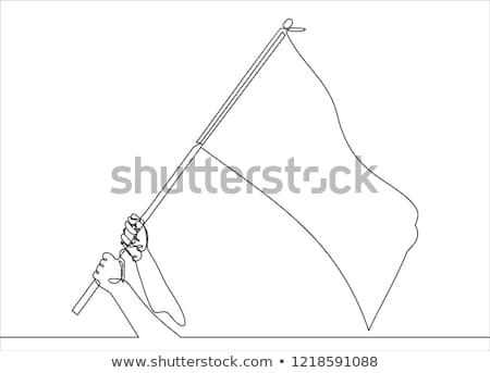 Hand holding white flag capitulation concept losing Stock photo © LoopAll