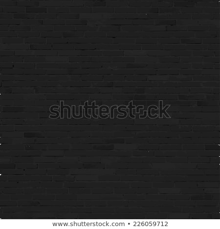 Brick wall background, black relief texture with shadow Stock photo © sidmay