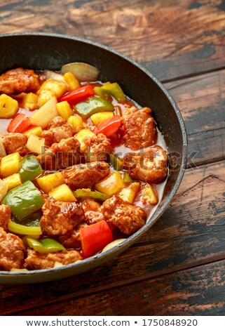 chicken and bell pepper Stock photo © M-studio