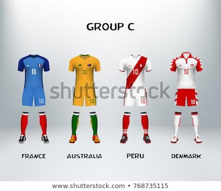 piłka · nożna · meczu · Dania · vs · Francja · piłka · nożna - zdjęcia stock © romvo