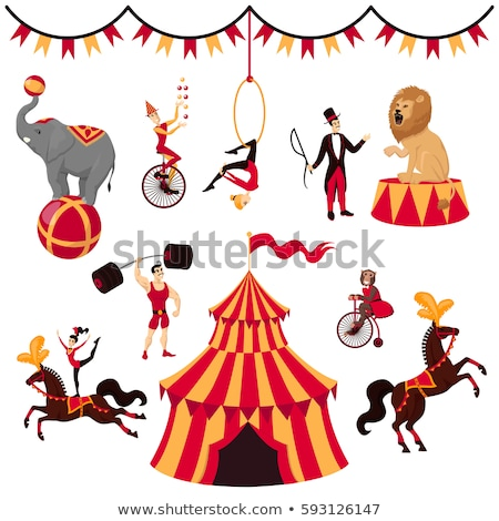 A Set of Circus Show on White Background Stock photo © bluering