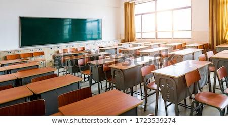 Yeşil boş okul kara tahta soyut örnek Stok fotoğraf © derocz